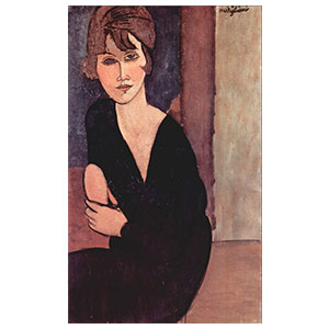 seated woman, mme. reynouard  by amedeo modigliani