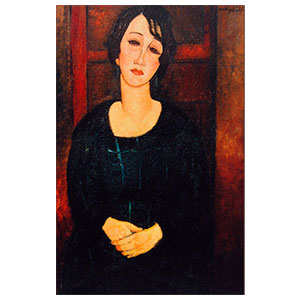 woman with scotish dress  by amedeo modigliani
