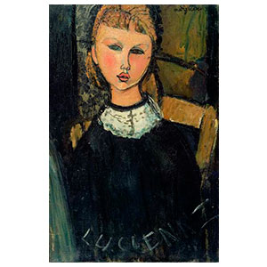 Little Lucienne by Amedeo Modigliani