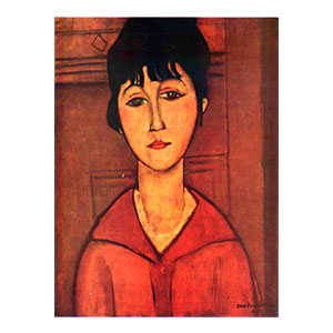 bust of a young woman by amedeo modigliani