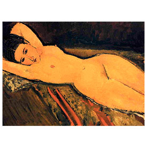 Reclining nude, arms folded under her Head BY AMEDEO MODIGLIANI