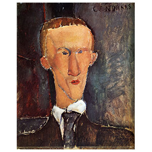 blaise cendrars by amedeo modigliani