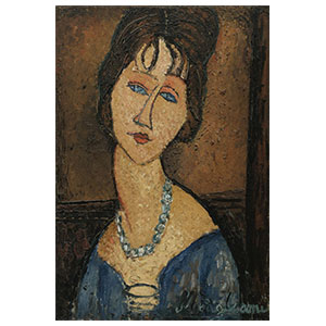 JEAN HEBUTERNE WITH NECKLACE BY AMEDEO MODIGLIANI