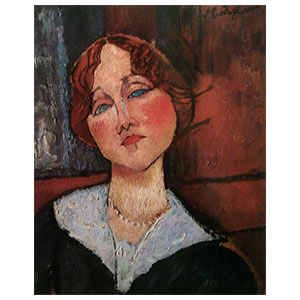 woman head or haricot rouge by amedeo modigliani