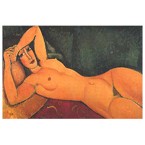 RECLINED NUDE WITH ARM IN FOREHEAD BY AMEDEO MODIGLIANI