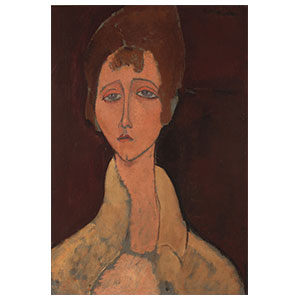 WOMAN WITH WHITE SHIRT BY AMEDEO MODIGLIANI