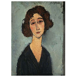 YOUNG WOMAN BUST, TOTOTTE DE LA GAITE BY AMEDEO MODIGLIANI