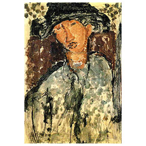 chaim soutine on a door by amedeo modigliani