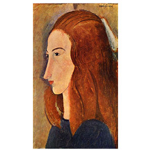 Head of Jeanne Hébuterne in profile BY AMEDEO MODIGLIANI