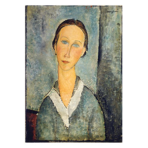 girl in a sailor blouse by Amedeo Modigliani