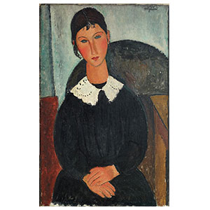 ELVIRA WITH WHITE COLLAR BY AMEDEO MODIGLIANI