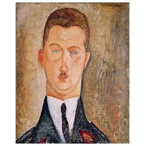 HEAD OF A MAN BY AMEDEO MODIGLIANI