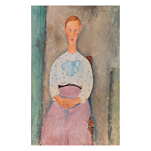 girl with a polka dot blouse by Amedeo Modigliani