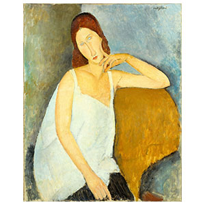 HEBUTERNE WITH SHIRT BY AMEDEO MODIGLIANI