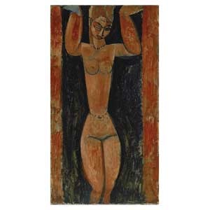 STANDING CARIATIDE BY AMEDEO MODIGLIANI