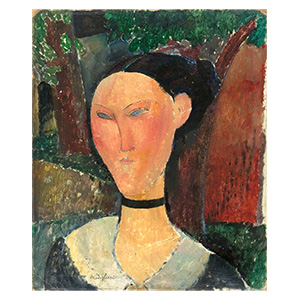 WOMAN WITH VELVET RIBBON BY AMEDEO MODIGLIANI