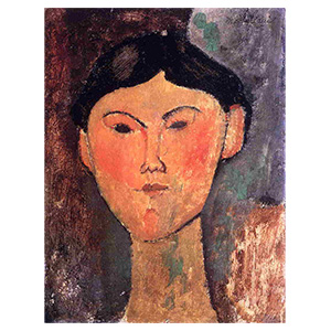 BEATRICE HASTINGS HEAD BY AMEDEO MODIGLIANI