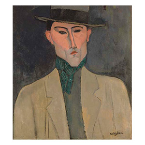 MAN WITH HAT BY AMEDEO MODIGLIANI