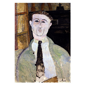 paul guilliaume at his library by amedeo modigliani