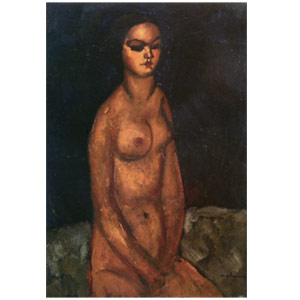 seated nude ( la petite Jeanne) by Amedeo Modigliani