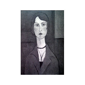 WOMAN BUST WITH NECKLACE BY AMEDEO MODIGLIANI