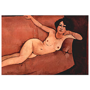 nudeo on a divan, alamaisa by amedeo modigliani