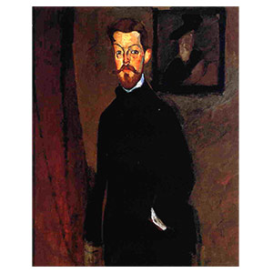 paul alexandre on brown background by amedeo modigliani