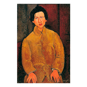 CHAIM SOUTINE SEATED BY AMEDEO MODIGLIANI