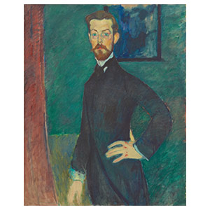 paul alexandre green background by amedeo modigliani