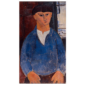 MOISE KISLING IN FRONT OF A WINDOW BY AMEDEO MODIGLIANI