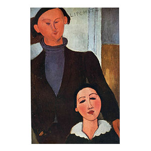 JACQUES LIPCHITZ AND WIFE, THE MARRIAGE BY AMEDEO MODIGLIANI