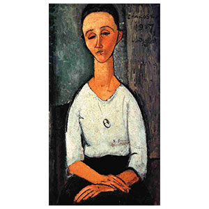 CHAKOSKA  OR LUNIA SEATED BY AMEDEO MODIGLIANI