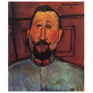the handsome commander  ot the doctor deveraigne or le beau major by amedeo modigliani