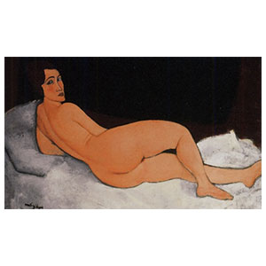 nude resting on left side by amedeo modigliani