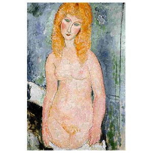 standing nude blonde by Amedeo Modigliani