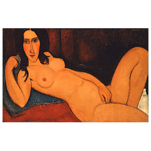 RECLINING NUDE LOOSE HAIR BY AMEDEO MODIGLIANI
