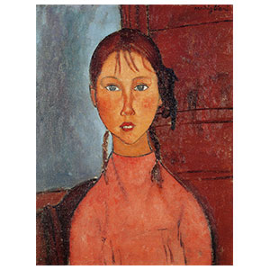 girl with pigtails or la fillette aux nattes by amedeo modigliani