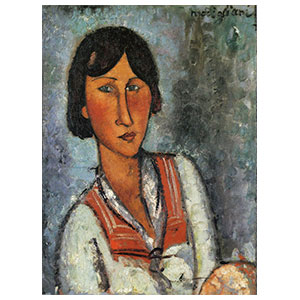 gypsy woman or la bohemienne or woman with sailors collar by amedeo modigliani