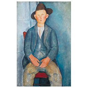le petit paysan by amedeo modigliani, young peasant