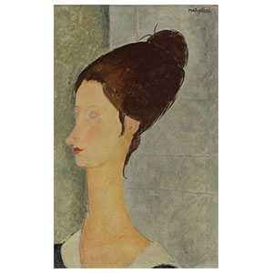 JEANNE HEBITERNE IN PROFILE BY AMEDEO MODIGLIANI