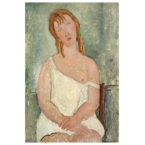Red-haired Young Woman in a Chemise by amedeo modigliani