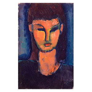 woman head by amedeo modigliani