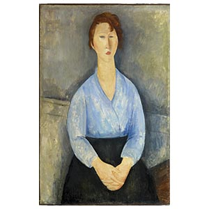 SEATED WOMAN WITH BLOUSE BY AMEDEO MODIGLIANI