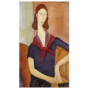 JEANNE HEBUTERNE WITH FOULARD  BY AMEDEO MODIGLIANI