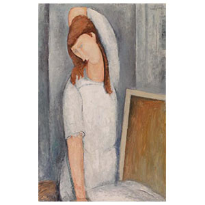 HEBUTERNE LOOSE HAIR BY AMEDEO MODIGLIANI