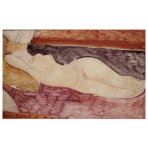 Nu couche, reclining nude by amedeo modigliani