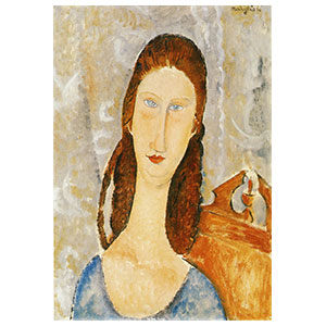 jeanne hebuterne's head by amedeo modigliani