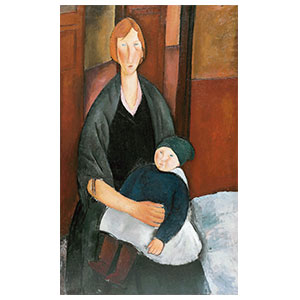 motherhood, maternite or woman with baby by amedeo modigliani