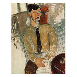 Henri laurens seated at the table by amedeo modigliani
