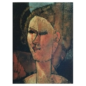 study for a woman head or head of beatrice hastings by amedeo modigliani